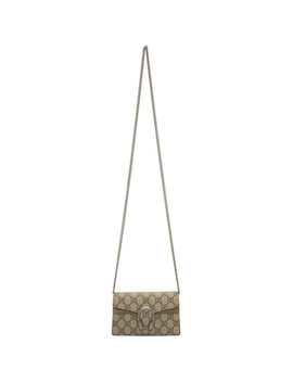 Beige Gg Supreme Super Mini Dionysus Bag by Gucci
