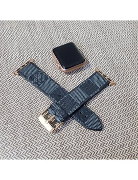 Lv, Apple Watch Band, Damier Graphite, Apple Watch Straps, Lv Apple Watch Band, Series 1, 2, 3 And 4, Louis Vuitton Apple Watch by Etsy