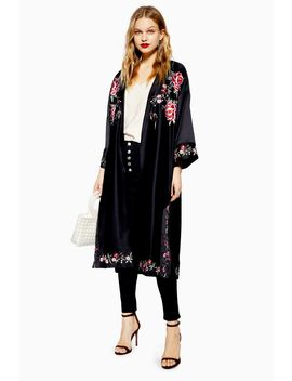 Floral Embroidered Kimono by Topshop