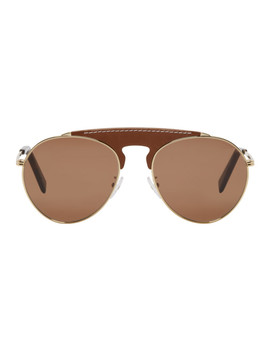 Brown Pilot Sunglasses by Loewe