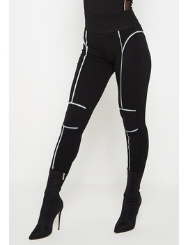 Reflective High Waisted Leggings   Black by Maniere De Voir