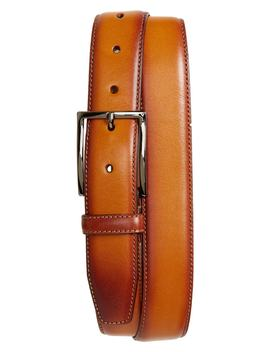 Marco Burnished Leather Belt by Nordstrom Men's Shop