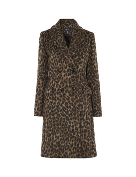 Leopard Print Tailored Coat by Cd038