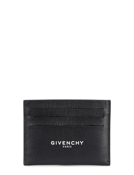 Black Logo Leather Card Holder by Givenchy
