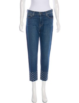 Studded Mid Rise Skinny Jeans W/ Tags by L'agence