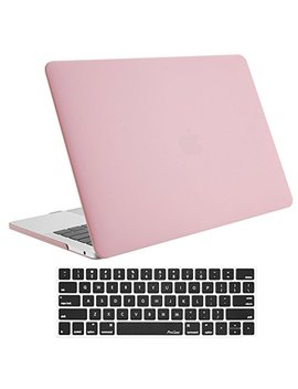 Pro Case Mac Book Pro 13 Case 2018 2017 2016 Release A1989 A1706 A1708, Hard Case Shell Cover And Keyboard Skin Cover For Apple Mac Book Pro 13 Inch With/Without Touch Bar And Touch Id  Pink by Pro Case