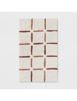 Composition Grid Bath Rug Smoke Green   Project 62™ by Project 62
