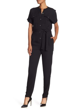 Cargo Styled Silk Jumpsuit by Theory