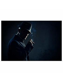 "Greatbigcanvas Poster Print Entitled Man With Cigar In Dark Background By 18""X12"" by Greatbigcanvas"