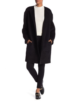 Reversible Double Face Wool Blend Coat by Vince