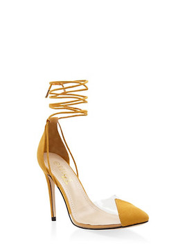Cap Toe Lace Up High Heel Pumps by Rainbow