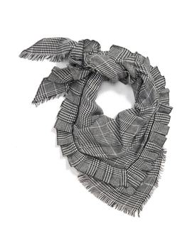 Ruffle Plaid Triangle Scarf by Bp.
