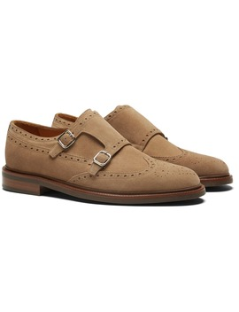 Light Brown Double Monk Strap by Suitsupply