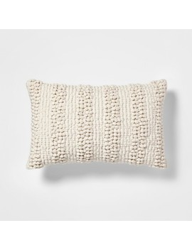 Textured Pom Lumbar Pillow Cream   Project 62™ by Project 62