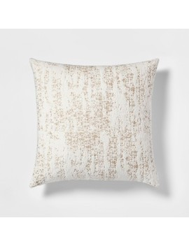 Woven Chenille Oversize Square Throw Pillow Cream   Project 62™ by Shop Collections