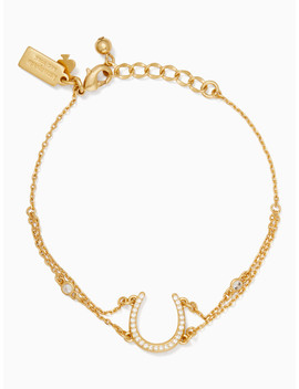 Wild Ones Pave Horseshoe Bracelet by Kate Spade