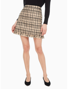 Bi Color Tweed Skirt by Kate Spade