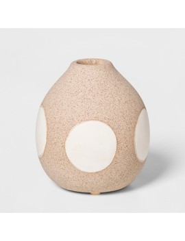 "3.9"" X 3.5"" Earthenware Circle Vase Brown/Cream   Project 62™ by Shop This Collection"