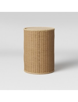 Braeswood Wicker Side Table With Removable Wood Top Brown   Project 62™ by Shop Collections