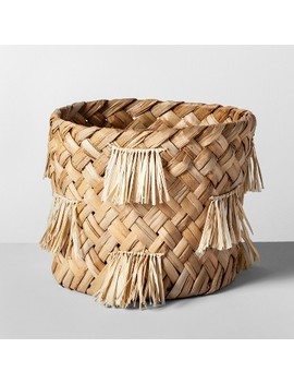 "10.5"" X 9.5"" Water Hyacinth Fringe Basket Natural   Opalhouse™ by Opalhouse"
