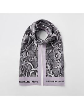 White Snake Print Scarf by River Island