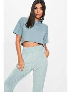 Blue Polo Boxy Crop Top by Missguided