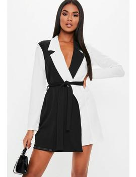 White Long Sleeve Monochrome Dress by Missguided