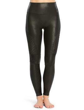 Faux Leather Moto Leggings by Spanx®