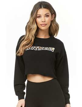 Hot Mess Graphic Crop Top by Forever 21