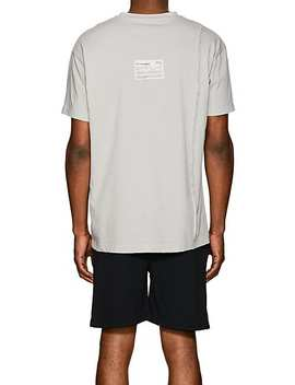 Windowpane Graphic Cotton T Shirt by A Cold Wall*