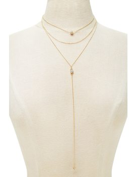 Collier Multirangs Strass by Forever 21
