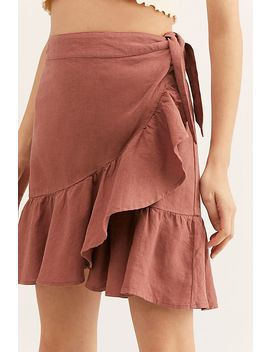 Ruffle My Feathers Mini Skirt by Free People