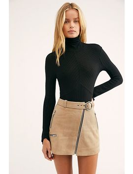 Moto Suede Mini Skirt by Free People