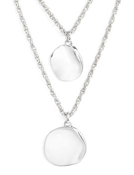 Hacked Classic Layered Coin Necklace by Halogen®