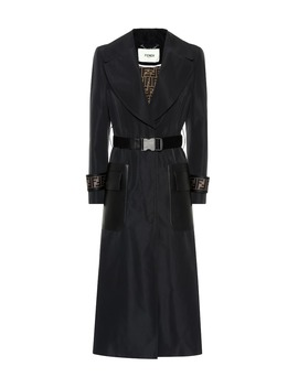 Trenchcoat Aus Faille by Fendi