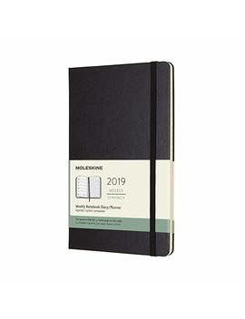"Moleskine Classic Hard Cover 2019 12 Month Weekly Planner, Large (5"" X 8.25"") Black   Weekly Planner For Students & Professionals, For Organizing And Planning by Moleskine"