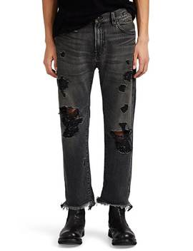 Sid Distressed Straight Jeans by R13