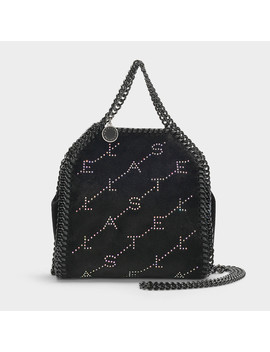 Tiny Falabella Bag With Crystals In Black Eco Leather by Stella Mc Cartney