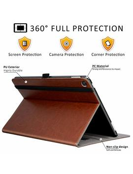 Ztotop Folio Case For All Fire Hd 10 Tablet (2017 Release, 7th Generation)   Smart Cover Slim Folding Stand Case With Auto Wake/Sleep For All Fire Hd 10 Tablet,Brown by Ztotop