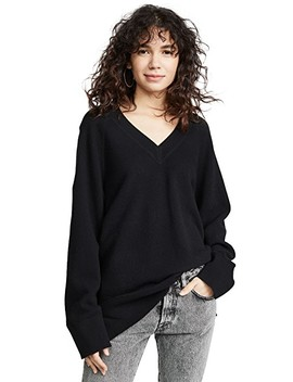 Classic Long Sleeve Deep V Tunic Sweater by Alexanderwang.T