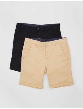2 Pack Staple Chino Shorts by Staple Superior