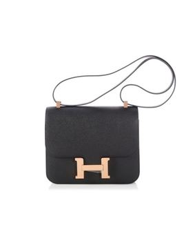 Hermes 2017 Black Epsom Constance 24 Bag Purse Euc ~ Just The Right Size! by HermÈs