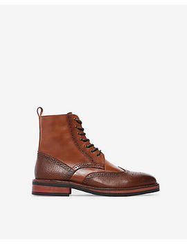 Wingtip Brogue Lace Up Boots by Express