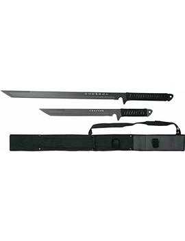 Blades Usa Hk 1067 Twin Ninja Swords, Black, 18 Inch And 26 Inch Lengths by Blades Usa