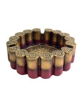 "12 Gauge Shotgun Shell Round Ashtray 4.5"" Diameter by Rustic Ashtray"