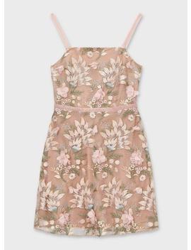 Pink 3 D Floral Mini Dress by Miss Selfridge