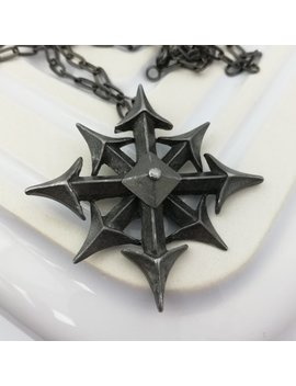 Jahrgang Gotischen Pfeilspitze Zinn Kette Die Alchemie Carta   Geschenk Für Frauen Männer by Etsy