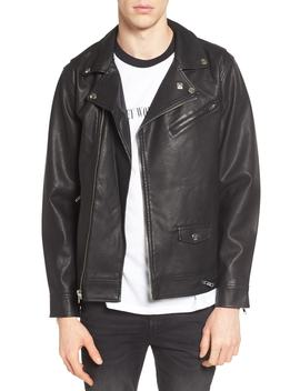 Bastards Faux Leather Biker Jacket by Obey
