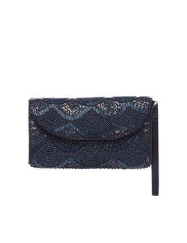 Debut   Navy Beaded Purse by Debut