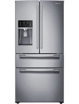 24.7 Cu. Ft. 4 Door French Door Refrigerator With Thru The Door Ice And Water   Stainless Steel by Samsung